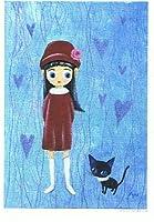 ねこの引出し ★AYUMIの猫ポストカード「あたしの方がきれいよ」