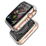 Misxi Compatible with Apple Watch Series 5 / Series 4 Screen Protector 40mm, 2019 New iwatch Cover TPU Overall Protective Case for Series 5/4 40mm (2-Pack Clear)