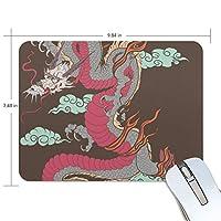 Jiemeil マウスパッド 高級感 おしゃれ 滑り止め PC かっこいい かわいい プレゼント ラップトップ MacBook pro/DELL/HP/SAMSUNG などに 伝統 竜
