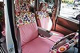 シンプルモダンスタイル 前席シートカバー(1席) 軽自動車・小型車 ポルカ(ピンク)