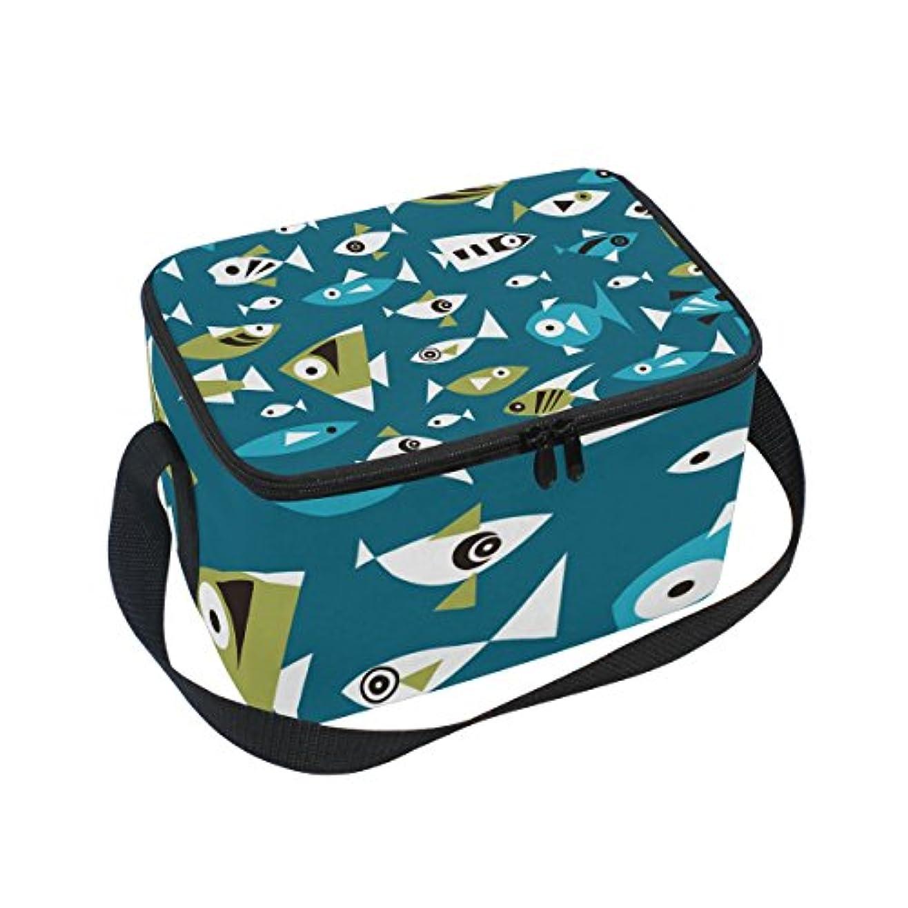 パシフィック魔女開発クーラーバッグ クーラーボックス ソフトクーラ 冷蔵ボックス キャンプ用品 魚柄 ネイビー 保冷保温 大容量 肩掛け お花見 アウトドア