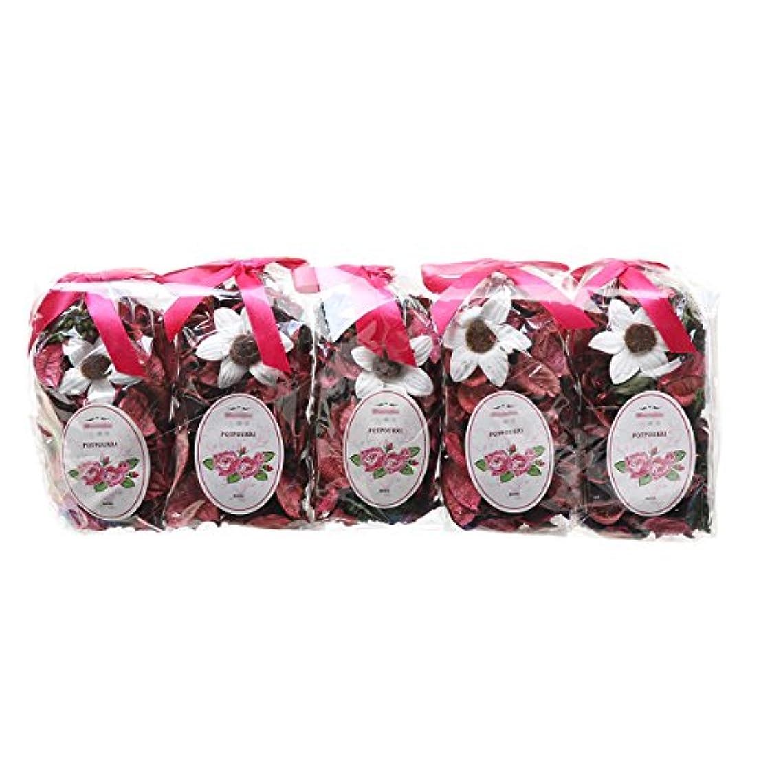 パフ強い繕うqingbei Rinaギフト。フレッシュラベンダーポプリバッグ、花びら、香水サッチェル、装飾ボウル、花瓶。5バッグ。9oz。 ピンク RUINA-5G