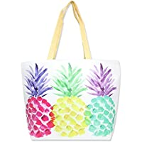Me Plus Summer Large Beach Tote Bags Zipper Inner Pocket Shoulder Bag (9 Different Styles)