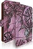 R15 Neo ケース 手帳型 コンパス ピンク 十字架柄 地図 アール15 ネオ 手帳型ケース 手帳型カバー ロック 地図柄 [コンパス ピンク/t0695]