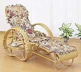 籐三ツ折寝椅子 ファブリックカバー付 A-200M