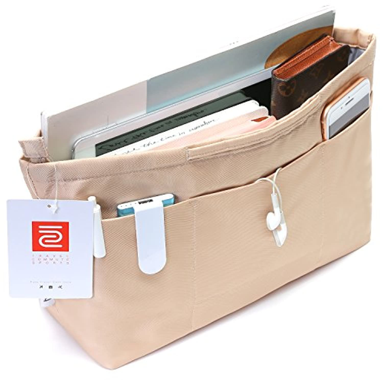 バッグインバッグ レディース インナーバッグ 軽量 で 大容量 さまざまな大きさの小物に対応 12ポケット 全3サイズ