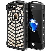 PZX iPhone8 Plus iPhone7 Plus 防水ケース 指紋認証対応 防水 防塵 耐震 防雪 耐衝撃 IP68 アイフォン8/7プラスケース 防水カバー (iPhone7 plus/iPhone8 Plus, クリア)