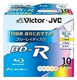 ビクター 映像用ブルーレイディスク 1回録画用 25GB 10枚 BV-R130UX10