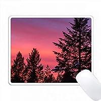 ホワイトフィッシュ、モンタナ、アメリカの松の木の上の夕日の色。 PC Mouse Pad パソコン マウスパッド