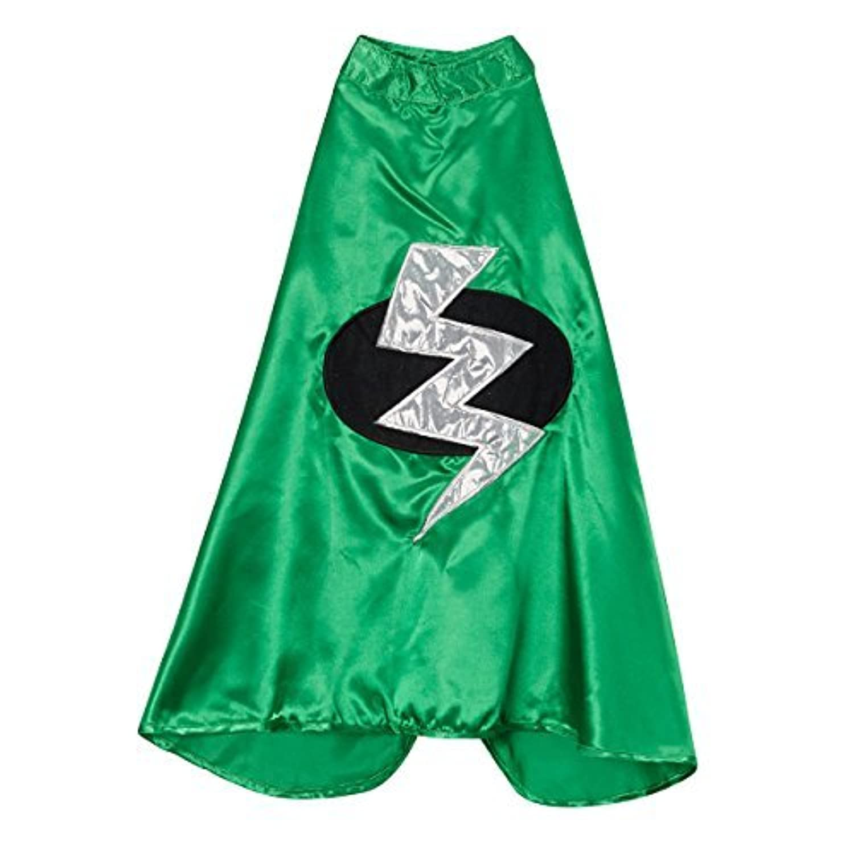 Kids Green Superhero Lightning Bolt Cape [並行輸入品]