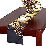 LKCDNG テーブルランナー 星空 蝶 クロス 食卓カバー 麻綿製 欧米 おしゃれ 16 Inch X 72 Inch (40cm X 182cm) キッチン ダイニング ホーム デコレーション モダン リビング 洗える