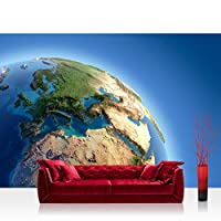 フォト壁紙 – Earth Space Planet – No。230 Earth Space Planetブルー – 壁装飾フォト壁壁ドアウォール紙ポスター& Prints Wallpaper 78.7 x 55.1 inches | 200x140 cm FTVLPP-0230-200X140