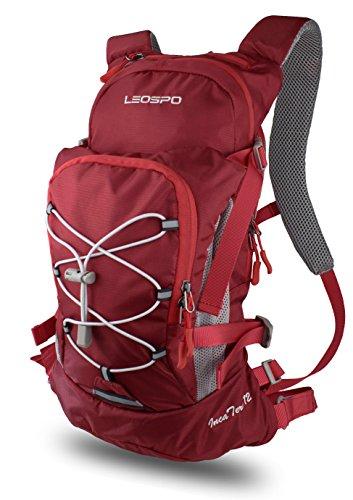 【LEOSPO】軽量・コンパクト サイクリングバッグ 【IncaTure12】ハイドレーションバッグ・ ロードバイク 自転車 登山 などに(RED WINE)