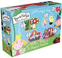 Ben and Hollys Little Kingdom 4 Shaped Puzzles for Little Hands [並行輸入品]