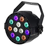 Colorful Area DMX512舞台照明パーライトRGBW(青、赤、緑、白)12LEDs15W AC90-240Vディスコの照明、照明、舞台セットを点灯