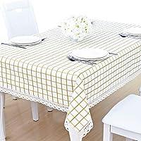 YAHUO テーブルクロス コットン 綿 ティーテーブ クロス 食卓カバー テーブルパッド 田園風 イエロー
