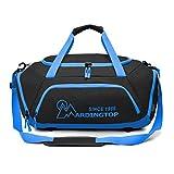 Mardingtop 軽量 スポーツ・ダッフル 体育バッグ トラベルバッグ 旅行週末 ショルダーバッグ スポーツバッグ (ブラック・ブルー)
