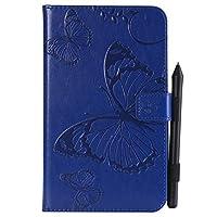 Samsung Galaxy Tab A 7.0 T280 Case, Samsung Galaxy Tab A 7.0 T280 Cover Thin Flip Cover Case プロテクター シェル Phone Case for Samsung Galaxy Tab A 7.0 T280 by Scheam (Blue)