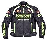 シンプソン(SIMPSON) バイクジャケット メッシュジャケット ブラック/グリーン LW SJ-7117