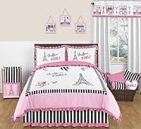 [スウィートジョジョデザイン]Sweet Jojo Designs Pink, Black and White Stripe Paris Childrens and Teen 3 Piece Full / [並行輸入品]