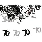 amleso 70th メタル コンペティデコレーションスプリンクル 紙吹雪 記念日 祝い