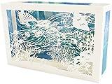 サンリオ(Sanrio) サマーカード レーザーカット箱形海の中 JSP 47-1 S 4247