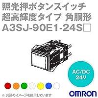 オムロン(OMRON) A3SJ-90E1-24SO 形A3S 照光押ボタンスイッチ 超高輝度タイプ (角胴形) (橙) NN