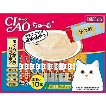 チャオ (CIAO) CIAOちゅーる 40本 まぐろ・かつおバラエティ 14g×40本入り