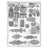 ファブリックミー ディッシュクロス MILK,VEGGIES,FISH 13-0028-00