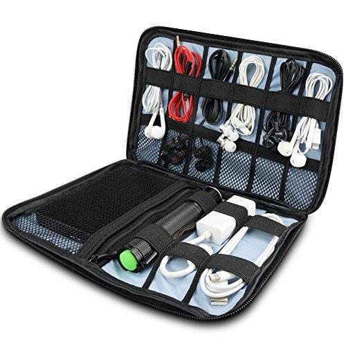 V5X PC周辺機器整理ケース モバイルバッテリー用収納バッグ 小物用収納ポ...