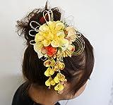 卒業式 成人式 髪飾り コサージュ 花飾り ヘアーアクセサリー 帯飾り  振袖 袴  手作り cs0391
