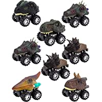 Apipi 8パック プルバック 恐竜 車 玩具 - 恐竜 車 玩具 大きなタイヤホイール付き 子供 幼児 パーティー用品