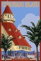 サンディエゴ、カリフォルニア州–Hotel Del Coronado 24 x 36 Signed Art Print LANT-31805-710