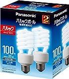 パナソニック 電球形蛍光灯 パルックボール 口金直径26mm 電球 100形 クール色 2個入り EFD25ED20EF22T