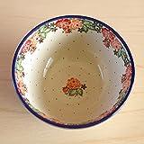 ポーリッシュポタリー ポーランド食器 ボウル 17cm どんぶり Boleslawiec ボレスワヴィエツ陶器 バラ模様 CA058-2120