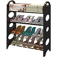 4ティア靴ラック調整済みクリエイティブアセンブリストレージ多機能装飾ラック