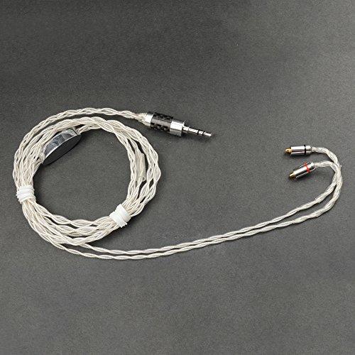 Woodhifi リケーブル イヤホンケーブル 交換ケーブル mmcx ケーブル SE215 SE315 UE900 SE846 SE535 SE425に対応 マイクなし 7N 単結晶銅