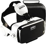 KIWI design 3D VR ゴーグル スマホ VRヘッドセット バーチャル 音量調整 近遠視に対応 一時停止 受話可能 4.7-6.2インチスマホ対応