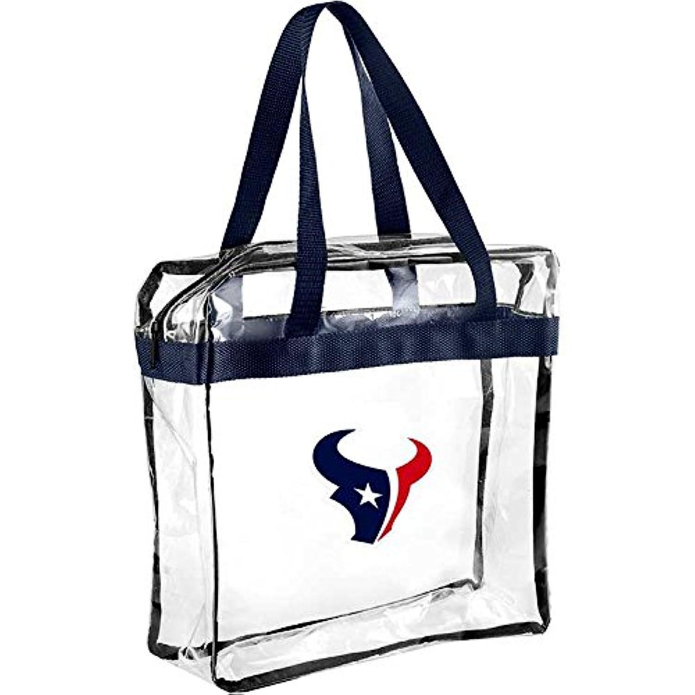 NFL Houston Texansクリアメッセンジャーバッグスポーツファンホーム装飾、ブルー、1サイズ