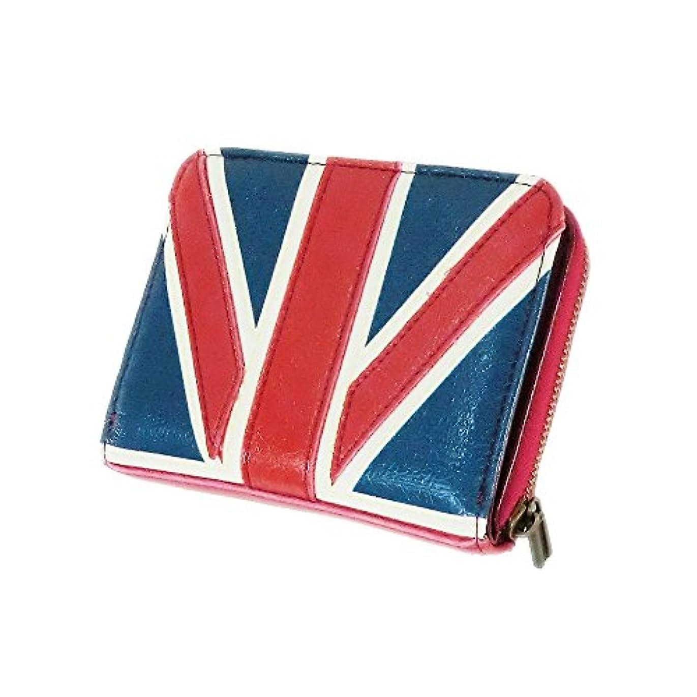振る蓋進む(キーズ) Keys 国旗柄 ハーフ ウォレット イギリス アメリカ 二つ折り財布 メンズ レディース 財布