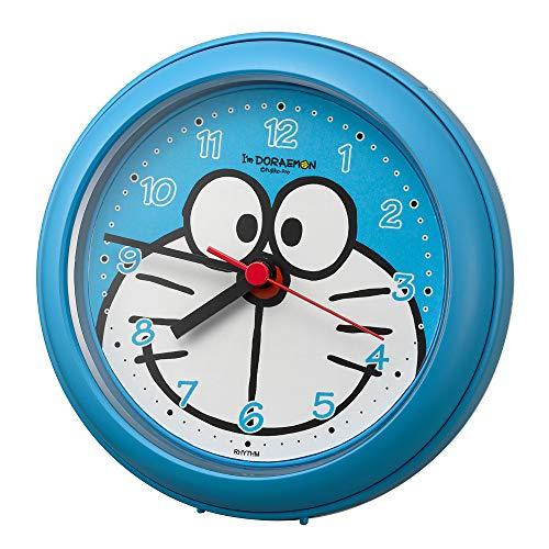 リズム時計工業(Rhythm) ライトブルー Φ11.8x4.8cm ドラえもん 掛け時計 お風呂 で使える強化防滴クロック 4KG716DR04