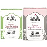 Earth Mama Angel Baby Bundle - 2 Items: 2 Ounce Natural Nipple Butter & 2 Ounce Angel Baby Bottom Balm