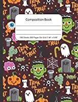 Composition Book Dot Grid, Halloween: Journal Notebook for School Home or Work