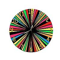 クリエイティブルミナスポインターラウンドデジタル壁掛け時計 カフェオフィスホームキッチンの壁の装飾 (Color : F)