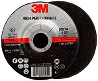 3M High Performance Cut-Off Wheel T27 66574, Ceramic, 4-1/2 Diameter, 3/64 Thick, 7/8 Arbor, 60+ Grit, 13300 rpm (Case of 25) by 3M