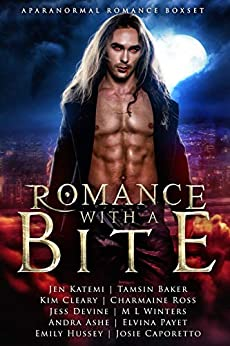 Romance with a Bite: A Paranormal Romance Box-set by [Baker, Tamsin, Katemi, Jen, Ross, Charmaine, Cleary, Kim, Payet, Elvina, Hussey, Emily, Devine, Jess, Somers, Michelle, Ashe, Andra, Caporetto, Josie]