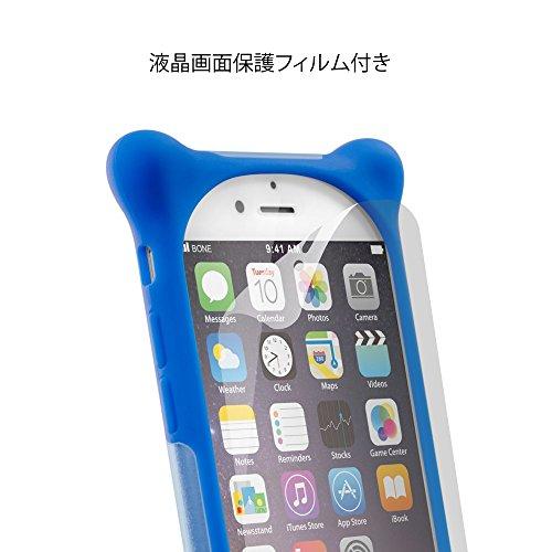 05b339beb3 ... BoneCollection ディズニー マイク iPhone7 iPhone8 スマホ ケース 携帯ケース 【ストラップ 付き シリコン  素材 2層 ...