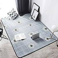 housewaresstore 綿のフランスのロマンチックな庭花の厚いマットドアマットマットベッドサイドマット手作りの畳マット carpet (色 : D, サイズ さいず : 145×190cm)