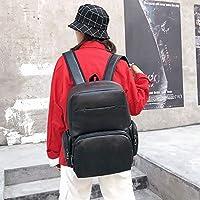 ZHANGYOUDE Stereoscopic PU Leather Sports Double-Shoulder Bag Messenger Bag for Men (Black) (Color : Black)