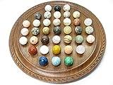 Natural Stones ソリティア 紫檀(縞丸タイプ) 丸玉 20mm(天然石のボードゲーム・知育・脳トレ)